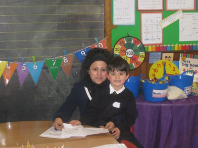 Adan and Mum at the open afternoon!